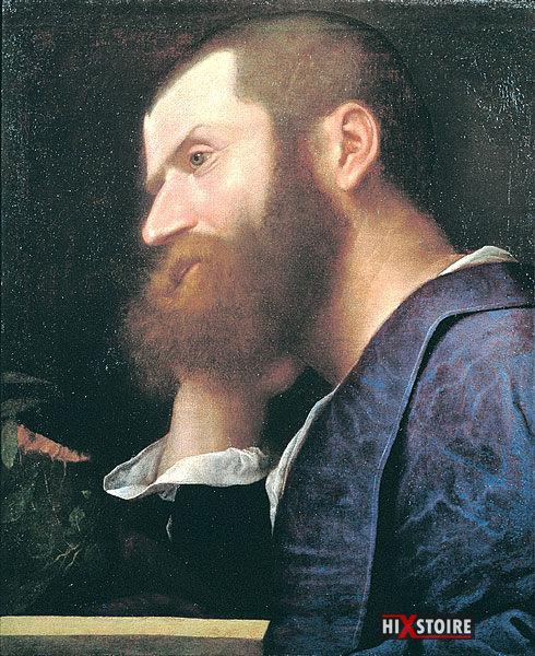 Pierre l'Arétin par Titien, (v. 1512)