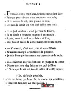 les Sonnets luxurieux de Pierre l'Arétin - Sonnet 1