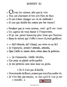 Les Sonnets luxurieux de Pierre l'Arétin - 1526 - Sonnet 11