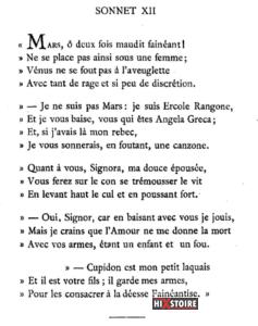 Les Sonnets luxurieux de Pierre l'Arétin - 1526 - Sonnet 12