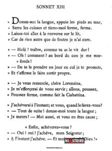 Les Sonnets luxurieux de Pierre l'Arétin - 1526 - Sonnet 13