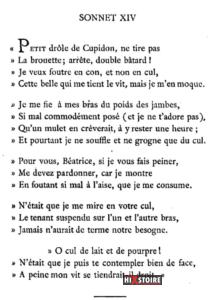 Les Sonnets luxurieux de Pierre l'Arétin - 1526 - Sonnet 14