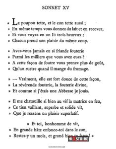 Les Sonnets luxurieux de Pierre l'Arétin - 1526 - Sonnet 15