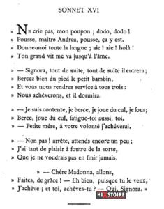 Les Sonnets luxurieux de Pierre l'Arétin - 1526 - Sonnet 16