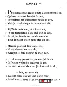 les Sonnets luxurieux de Pierre l'Arétin - 1526 - Sonnet 5