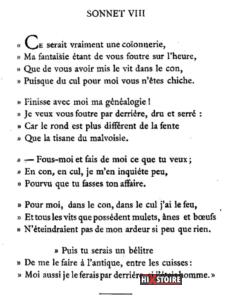 les Sonnets luxurieux de Pierre l'Arétin - 1526 - Sonnet 8