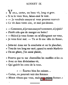 Les Sonnets luxurieux de Pierre l'Arétin - 1526 - Sonnet 9