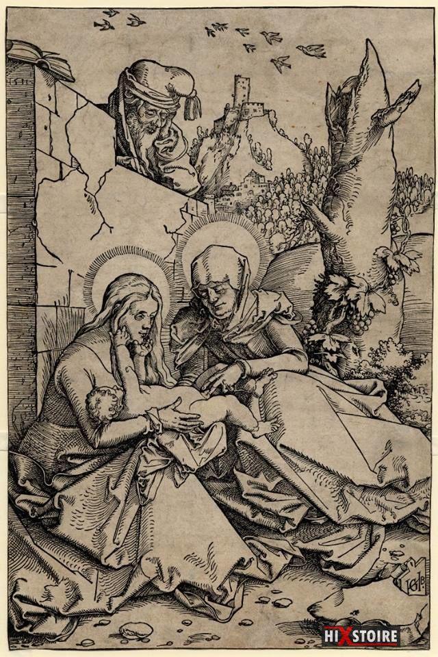 Hans Baldung Grein Anne, Marie et Jésus, en compagnie de Joseph, 1511
